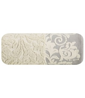 Jacquard Design Towel, Beige color, 50 x 90 cm