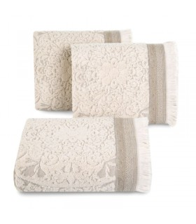 Jacquard Design Towel, Beige color, 70 x 140 cm