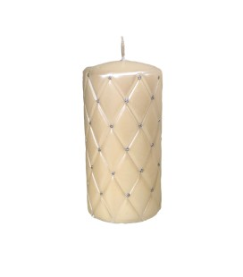 Decorative Candle shiny cream