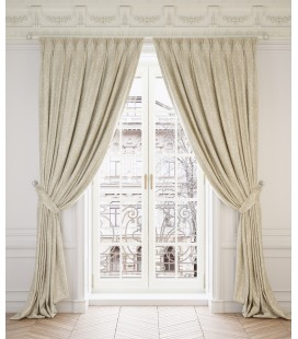 2 Curtains  Ginevra Cream