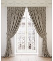 2 Curtains  Ginevra Black & Gold