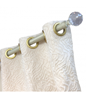 eyelet cream Curtains