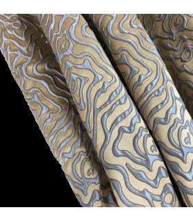 красивые Голубо-золотые шторы Maria Gold